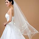 cheap Wedding Veils-One-tier Classic & Timeless Wedding Veil Fingertip Veils 53 Tulle Ball Gown