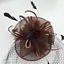 hesapli Parti Başlıkları-Tüy / Net - Fascinators / Kuş kafesi örtüleri 1 Düğün / Özel Anlar / Günlük Başlık