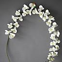 hesapli Suni Çiçek-Yapay Çiçekler 1 şube minimalist tarzı Orkideler Masaüstü Çiçeği