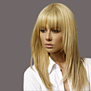 cheap Human Hair Capless Wigs-enchanting ethereal bangs long hair woman hair human hair wig