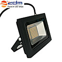 cheap LED Flood Lights-ZDM 1PC 60W 288 x 3020 SMD LEDs 1400LM Outdoor Waterproof IP65 Ultra-Thin Projection Lamp (AC170-265V) Super Thin Black Die Cast Aluminum Shell