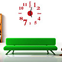 voordelige Doe-het-zelf Muurklokken-Modern/Hedendaags / Kantoor/Zakelijk Huizen / Familie / School/Afstuderen Wandklok,Rond / Nieuwigheid Acryl / Glas 35.5CM/14inchVoor