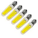 baratos Relógios da Moda-JIAWEN 5pçs 360lm E14 Luzes de LED em Vela 4 Contas LED COB Decorativa Branco Quente Branco Frio 220V 220-240V