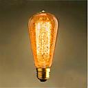 halpa Hehkulamppu-1kpl 60 W E26 / E27 ST64 Lämmin valkoinen 2300 k Retro / Koristeltu Himmennetty Vintage Edison-hehkulamppu 220-240 V