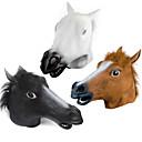billige Masker-Hestehoved Halloween-masker Halloweentillbehör Uhyggelig Sjov Hestehoved Kostume Gysertema Gummi Fun & Whimsical Kostume fest Stk. Voksne Drenge Pige Legetøj Gave