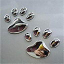 cheap Car Stickers-Metal Bear Foot Sticker Metal Foot Sticker