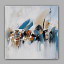 baratos Pinturas Abstratas-Pintura a Óleo Pintados à mão - Abstrato Clássico / Modern Tela de pintura / Lona esticada