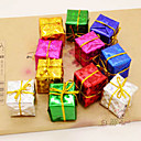 cheap Christmas Decorations-12PCS  The Christmas Tree Accessories Product Laser Small Gift Bag  Six Kinds Of Color
