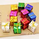 olcso Karácsonyi dekoráció-12db karácsonyfa tartozékok termékek lézer kis ajándékcsomagot hatféle szín
