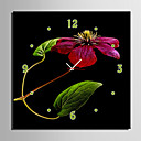 cheap Canvas Wall Clocks-Modern/Contemporary Canvas Square Indoor,AA Wall Clock