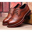 cheap Men's Oxfords-Men's Shoes Leather Comfort Oxfords for Casual Office & Career Black Yellow Brown Blue