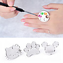 cheap Other Nail Tools-cute nail art metal finger ring palette mixing acrylic gel polish painting drawing color paint dish manicure tools