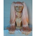 abordables Pelucas para Disfraz-Pelucas sintéticas Recto Rosa Con coleta Pelo sintético Rosa Peluca Mujer Sin Tapa Rosa hairjoy