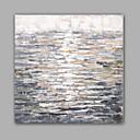 hesapli Manzara Resimleri-Hang-Boyalı Yağlıboya Resim El-Boyalı - Soyut Klasik / Modern Tuval / Gerilmiş kanvas