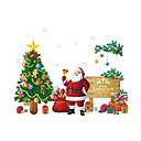 preiswerte Weihnachtsschmuck-Menschen Weihnachten Botanisch Wand-Sticker Flugzeug-Wand Sticker Dekorative Wand Sticker, PVC Haus Dekoration Wandtattoo Wand Glas /