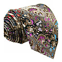 cheap Practical Favors-Men's Cute Party Work Rayon Necktie - Floral Color Block Jacquard Basic