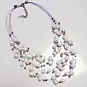 billige Perlekjeder-Dame Perle Lag-på-lag Uttalelse Halskjeder - Perle Statement, Europeisk, Perle Hvit Halskjeder Smykker Til Daglig, Avslappet