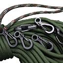 abordables Herramientas, Mosquetones y Cuerdas para Cámping-Hebilla / Multiherramientas Multi Function, Conveniente para Senderismo / Camping / Al Aire Libre - Aleación de aluminio 10 PC