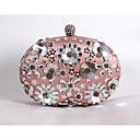 cheap Clutches & Evening Bags-Women's Bags Satin Evening Bag Beading / Sequin / Crystal / Rhinestone Screen Color