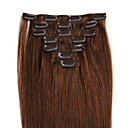 お買い得  人工毛レースウィッグ-Febay Clip In 人間の髪の拡張機能 ストレート 人毛 613分の8