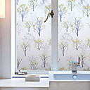 cheap Window Film & Stickers-Floral Contemporary Window Film, PVC/Vinyl Material Window Decoration Dining Room Bedroom Office Kids Room Living Room Bath Room Shop