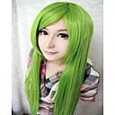 hesapli HDMI-Sentetik Peruklar / Kostüm Perukları Kadın's Düz Yeşil Sentetik Saç Yeşil Peruk Çok uzun Bonesiz Yeşil hairjoy