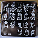 cheap Nail Stamping-new manicure template nail stamping plates cartoon characters designs image disc transfer print