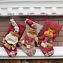 cheap Christmas Decorations-Holiday Decorations Animals / Snowmen / Santa Stockings Party / Novelty / Christmas 1pc