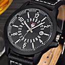 abordables Relojes Militares-Hombre Reloj Deportivo / Reloj Militar / Reloj de Pulsera Calendario / Cool Piel Banda Vintage / Casual / Moda Negro / Acero Inoxidable