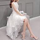 זול אמבטיה אביזרים הגדר-לבן א-סימטרי אחיד - שמלה גזרת A מידות גדולות בגדי ריקוד נשים