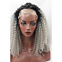 halpa Leivonta & Leivonnaiset Spatulas-Synteettiset pitsireunan peruukit Kihara / Afro Synteettiset hiukset Luonnollinen hiusviiva Musta Peruukki Naisten Lace Front / Kyllä