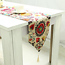 cheap Table Runners-Rectangular Floral Patterned Embroidered Table Runner , Linen / Cotton Blend Material Hotel Dining Table Table Decoration