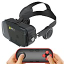 cheap Microphones-Black Integrated Earphone Virtual Reality Headset for 4.7-6.2 Inch Smartphone with Bluetooth Remote Gamepad