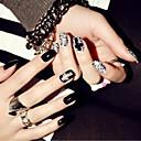 billige falske negler-Neglekunst Klassisk Høy kvalitet Daglig Nail Art Design