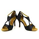 preiswerte Latein Schuhe-Damen Schuhe für den lateinamerikanischen Tanz / Salsa Tanzschuhe Satin Sandalen / Absätze Schnalle / Band-Bindung Maßgefertigter Absatz Maßfertigung Tanzschuhe Bronze / Mandelfarben / Hautfarben