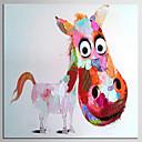 abordables Cuadros de Animales-Pintura al óleo pintada a colgar Pintada a mano - Pop Art Clásico Modern Lona