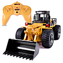 cheap RC Cars-RC Car HUINA 1520 6 Channel 2.4G Truck / Bulldozer / Construction Truck 1:14 10 km/h KM/H Remote Control / RC / Rechargeable / Electric