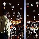 halpa Joulukoristeet-Joulu Sarjakuva Holiday Wall Tarrat Lentokone-seinätarrat Koriste-seinätarrat Häätarrat Kodinsisustus Seinätarra Seinä Lasi / WC