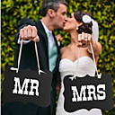 hesapli Düğün Dekorasyonları-Düğün Partisi Sert Kart Kağıdı Karışık Materyal Düğün Süslemeleri Klasik Tema Tüm Mevsimler