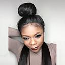olcso USB-Emberi haj Tüll homlokrész Csipke eleje Paróka Brazil haj Egyenes Paróka baba hajjal Természetes hajszálvonal Afro-amerikai paróka 100% kézi csomózású Női Rövid Közepes Hosszú Emberi hajból készült