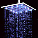 cheap LED Shower Heads-Contemporary Rain Shower Nickel Brushed Feature - Rainfall LED, Shower Head