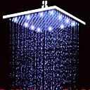abordables Cabezas de Ducha-Moderno Ducha lluvia Níquel Cepillado Característica - Efecto lluvia LED, Alcachofa de la ducha