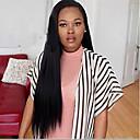 billige Hundepleiemateriell-Ekte hår Halvblonder uten lim Blonde Forside Parykk Rett Parykk Naturlig hårlinje Afroamerikansk parykk 100 % håndknyttet Dame Kort Medium Lengde Lang Blondeparykker med menneskehår