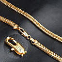 cheap Men's Necklaces-Men's Chain Necklace - Gold Plated Fashion Golden Necklace For Wedding, Party, Daily