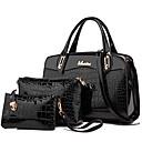 cheap Bag Sets-Women's Bags Pigskin Bag Set / Zipper 3 Pcs Purse Set Rivet Black / Red / Blue / Bag Sets