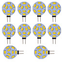 abordables Bombillas LED-10pcs 300lm G4 Luces LED de Doble Pin Tubo 9 Cuentas LED SMD 5730 Blanco Fresco 12V