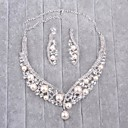 cheap Chandeliers-Women's Imitation Pearl / Rhinestone Jewelry Set - Include Silver For Wedding