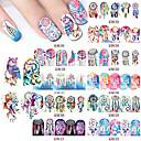 billige Negle Sticker-12 pcs Vandoverførings klistermærke Negle kunst Manicure Pedicure Mode Daglig