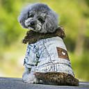 ieftine Îmbrăcăminte Câini-Câine Haine / Τζιν μπουφάν Îmbrăcăminte Câini Blugi Negru / Albastru Lână polară / Denim Costume Pentru animale de companie Cowboy / Keep Warm / Modă
