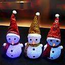 preiswerte LED-Lichter-1pcs Farbwechsel LED-Schneemann-Weihnachtsstimmung Lampe Nachtlicht Weihnachtsbaum hängende Verzierung ramdon Farbe verzieren